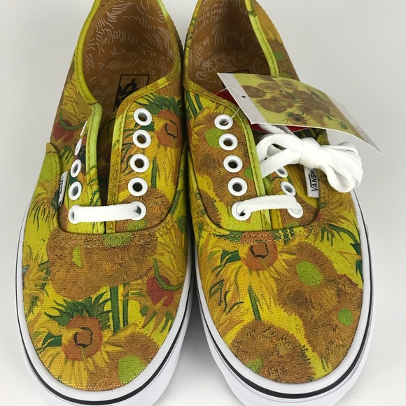 55c4400a72a6 Vans Van Gogh Sunflower women s 9